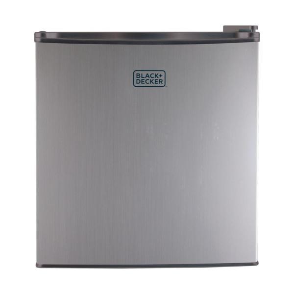 Black Decker 1.7 Cu. Ft. Mini Refrigerator In Silver-bcrk17v - Home Depot