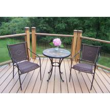 Hampton Bay Statesville 3-piece Steel Outdoor Bistro Set