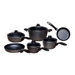 Kitchen Pot Sets Touchless Faucet Reviews Swiss Diamond Classic Series Ultimate Cookware Set 10 Piece
