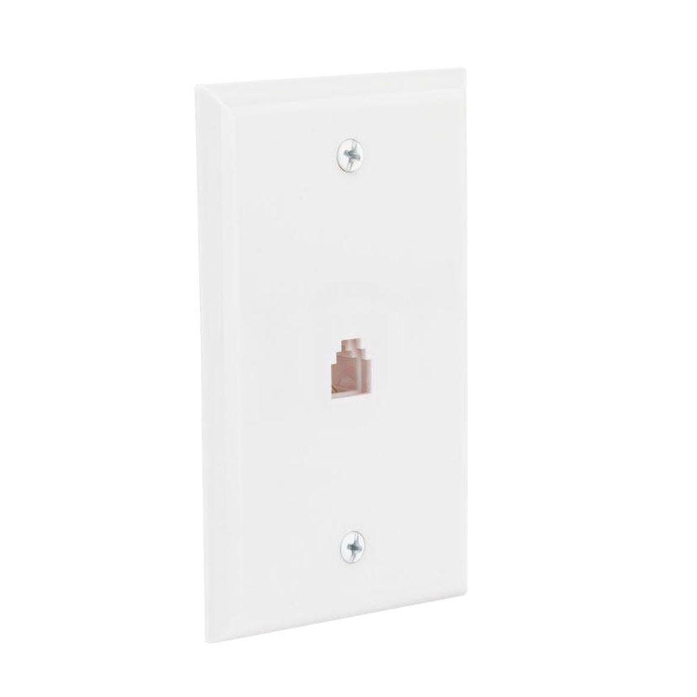 medium resolution of 1 line wall jack wall plate white