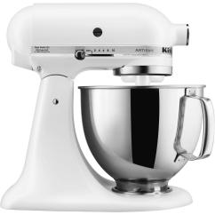 Kitchen Aid 5 Qt Mixer Kidskraft Kitchenaid Artisan Series Tilt Back Head Stand In Matte White
