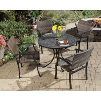 Home Styles Stone Harbor 40 in. 5-Piece Slate Tile Top ...