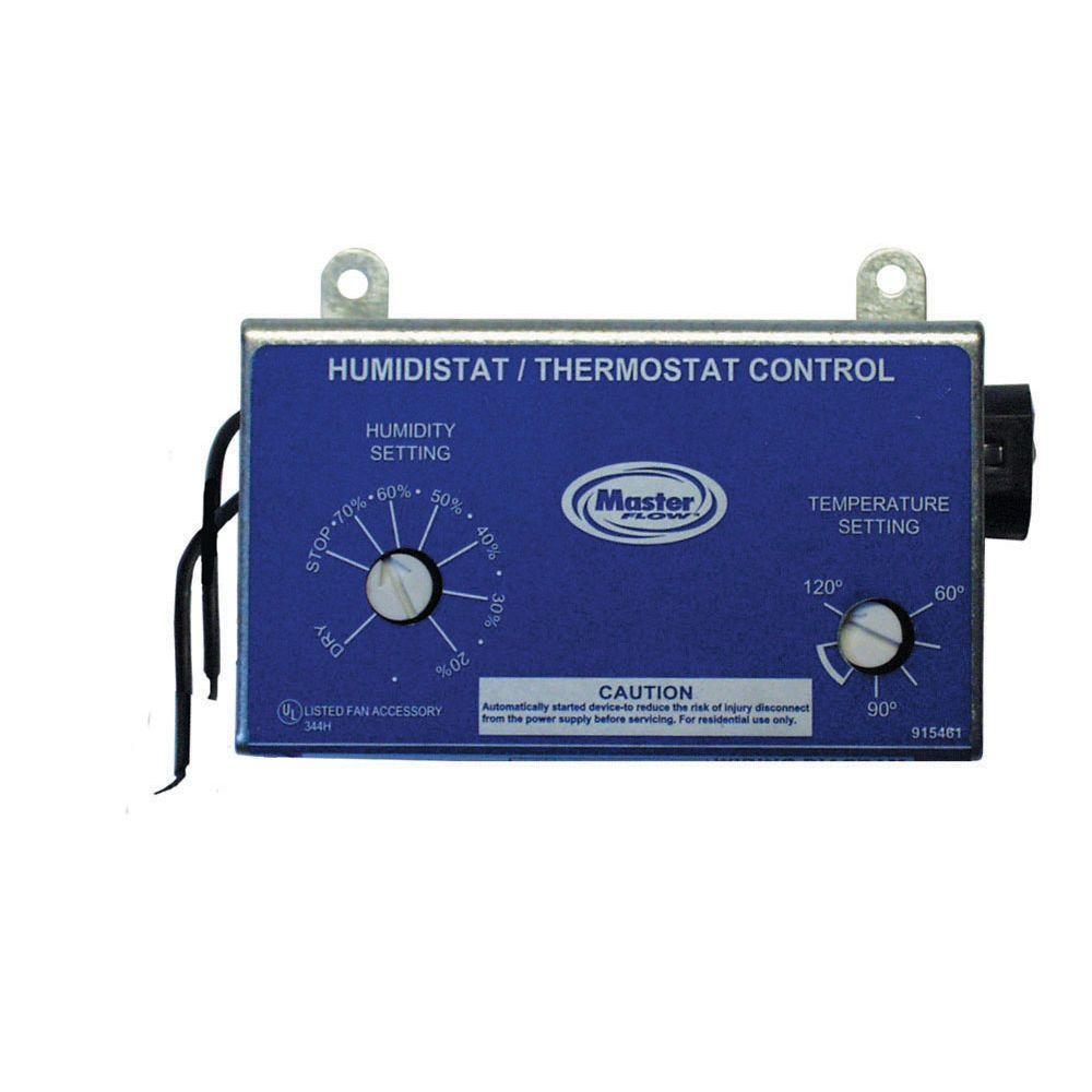 medium resolution of master flow manually adjustable humidistat thermostat control for pg pr power vents
