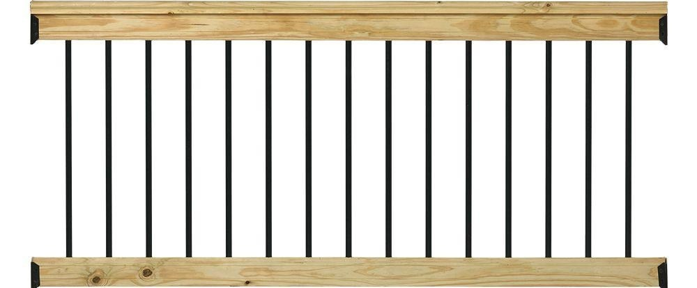 Deckorail Pressure Treated 6 Ft Aluminum Southern Yellow Pine | Home Depot Hand Railing Interior | Stair Treads | Staircase | Box Newel Post | Railing Systems | Iron Railings