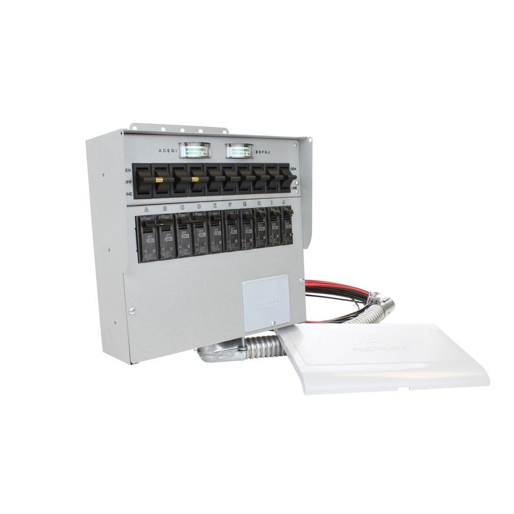 medium resolution of reliance controls 30 amp 10 circuit manual transfer switch with 2 pole 30 amp