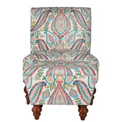Accent Chairs With Ottomans Kids Plastic Adirondack Chair Homepop Multi Color Paisley Susan Armless Ottoman Set K6381 A727 The Home Depot