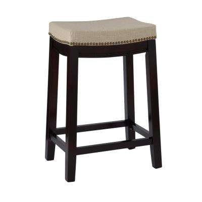 counter height bar chairs chair rental louisville ky stools kitchen dining room furniture the home depot hampton 24 in dark walnut cushioned stool