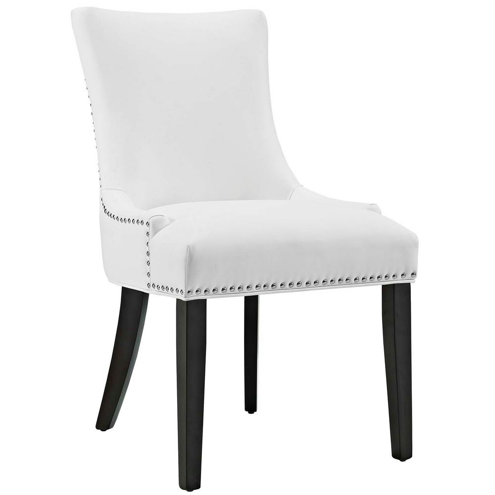 leather dining chairs high chair plans modway marquis white faux eei 2228 whi the