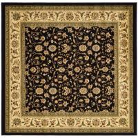 Safavieh Lyndhurst Black/Ivory 6 ft. x 6 ft. Square Area ...