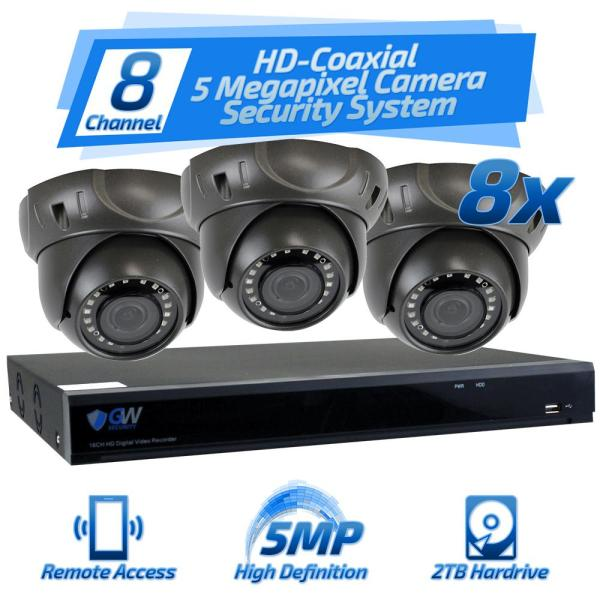 Gw Security 8-channel Hd-coaxial 5mp System Bundle With 8 X Gw537hd And 2 Tb Hdd-gw5mp94-537-8pk
