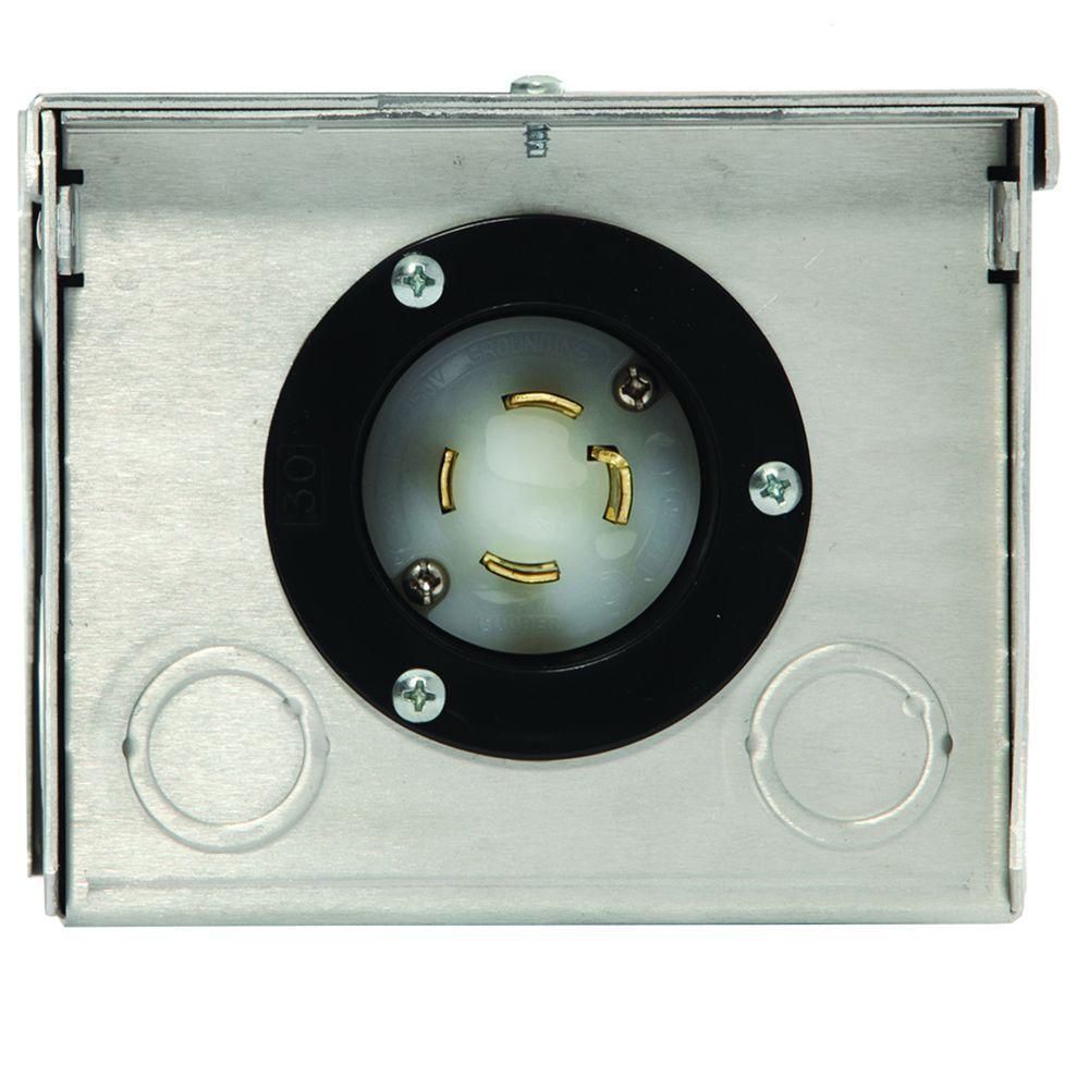 medium resolution of generac 30 amp raintight aluminum plug in box