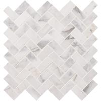 MS International Calacatta Cressa Herringbone 12 in. x 12 ...