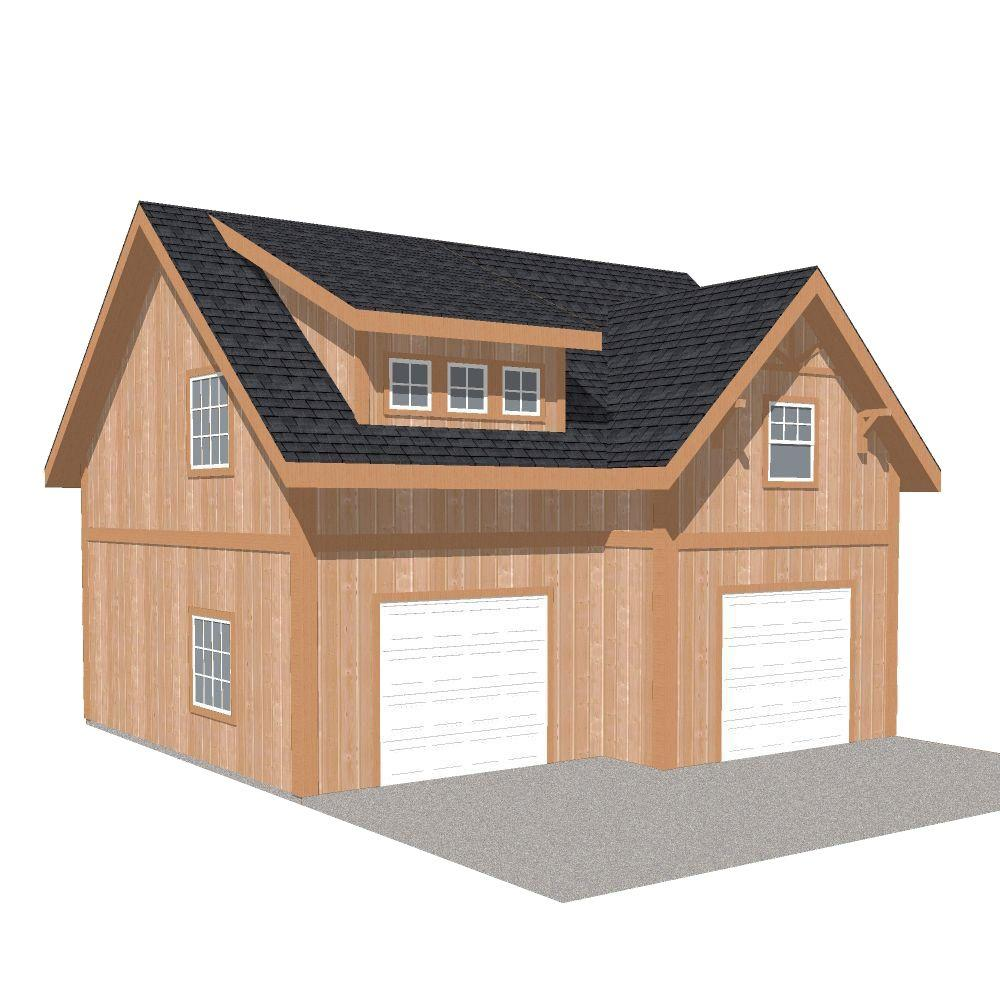 Barn Pros 2 Car 30 Ft X 28 Ft Engineered Permit Ready Garage Kit With Loft Installation Not Included Thd Bp2carg The Home Depot