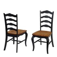 Black Side Chair Dining Styles Chart Home French Countryside Rubbed Oak Set Of 2 5519 802 The Depot