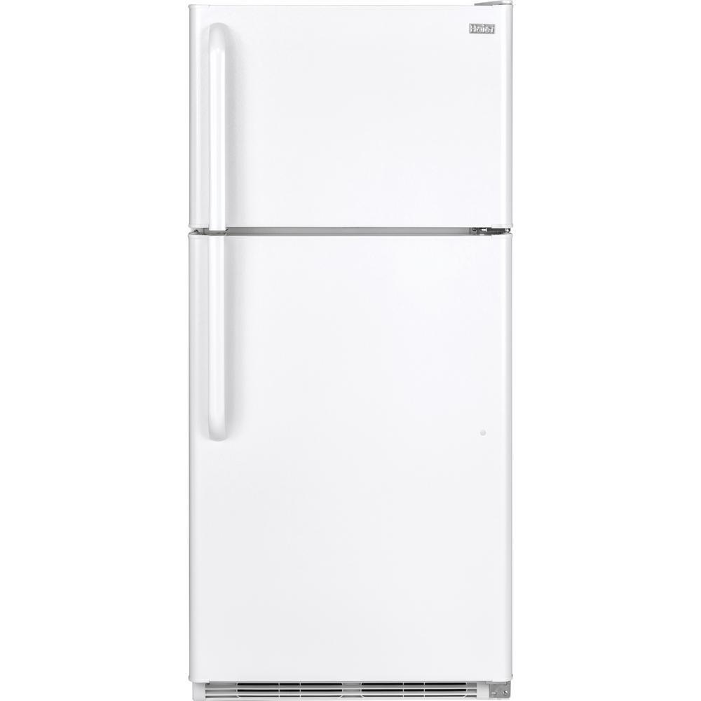 Haier 18.1 cu. ft. Top Freezer Refrigerator in White