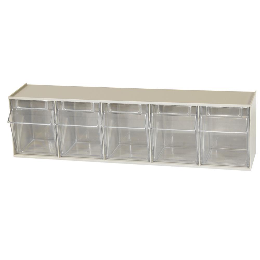 Akro Mils Tiltview Cabinet 5 Compartment 20 Lb Capacity
