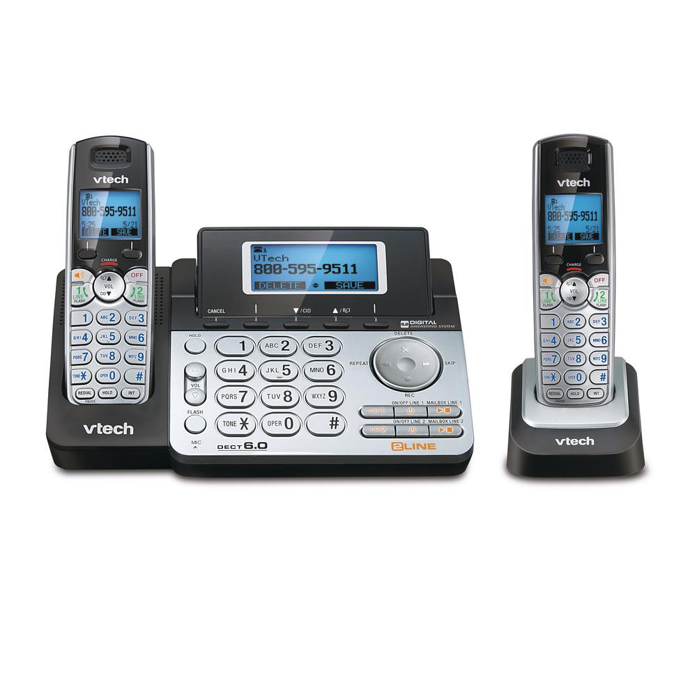 VTech Connect-To-Cell 2-Handset Cordless Phone System
