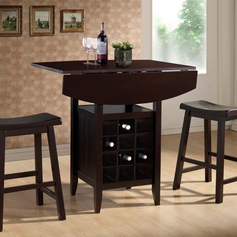pub table and chairs 3 piece set 2 desk chair clear baxton studio reynolds dark brown 28862 3985 hd
