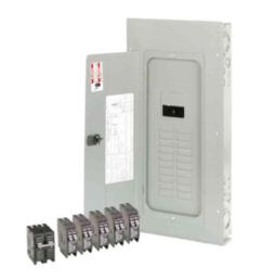 br 200 amp 20 space 40 circuit outdoor main breaker loadcenter with cover value pack  [ 1000 x 1000 Pixel ]