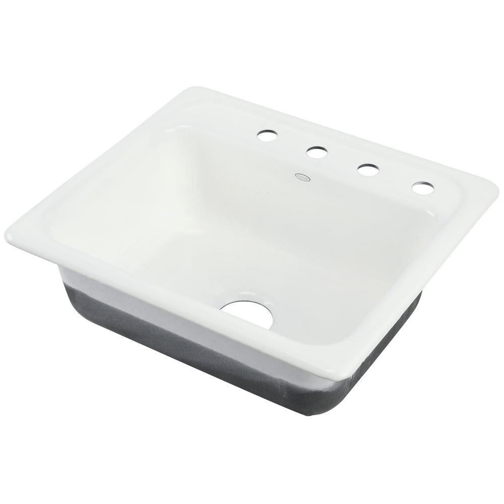 single bowl cast iron kitchen sink luxury appliances kohler mayfield drop in 25 4 hole