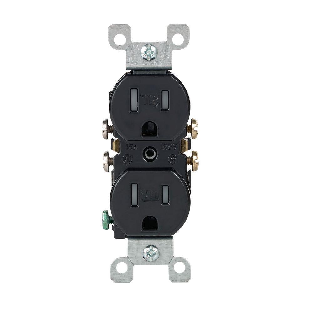 medium resolution of leviton 15 amp tamper resistant duplex outlet black