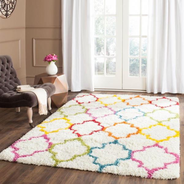 Safavieh Kids Shag Ivory Multi 8 Ft. X 10 Area Rug-sgk569a-8 - Home Depot