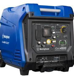 westinghouse 4 500 3 700 watt super quiet gas powered inverter generator with led display  [ 1000 x 1000 Pixel ]