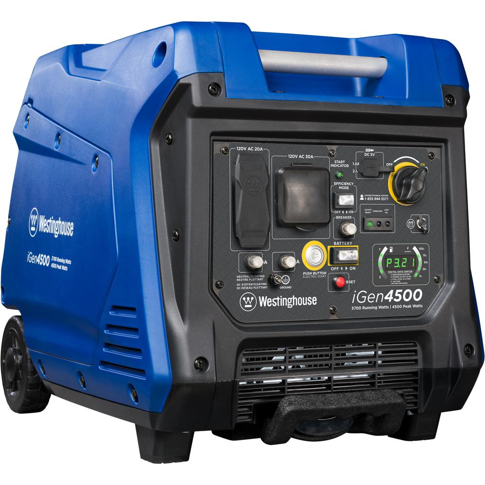 medium resolution of westinghouse 4 500 3 700 watt super quiet gas powered inverter generator with led display