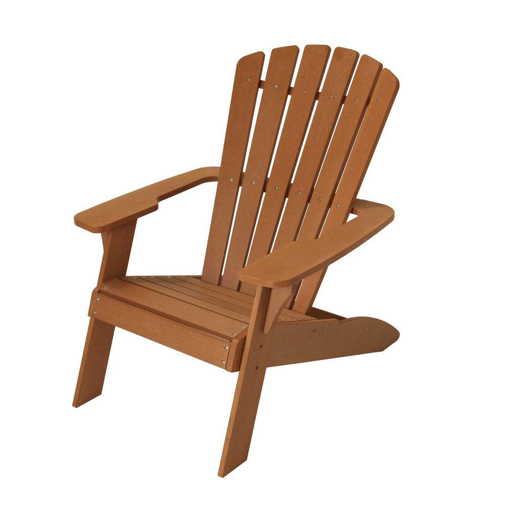 lawn chairs home depot costco leather lifetime simulated wood patio adirondack chair 60064 the