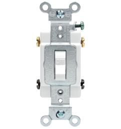 leviton 20 amp commercial double pole toggle switch white [ 1000 x 1000 Pixel ]