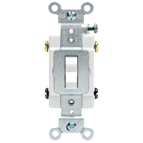 small resolution of leviton 20 amp commercial double pole toggle switch white