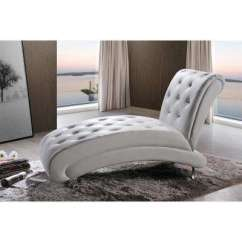 White Chaise Chair Hay About A Aac22 Stoel Lounge Chairs Living Room Furniture The Home Depot Pease Glam Faux Leather Upholstered