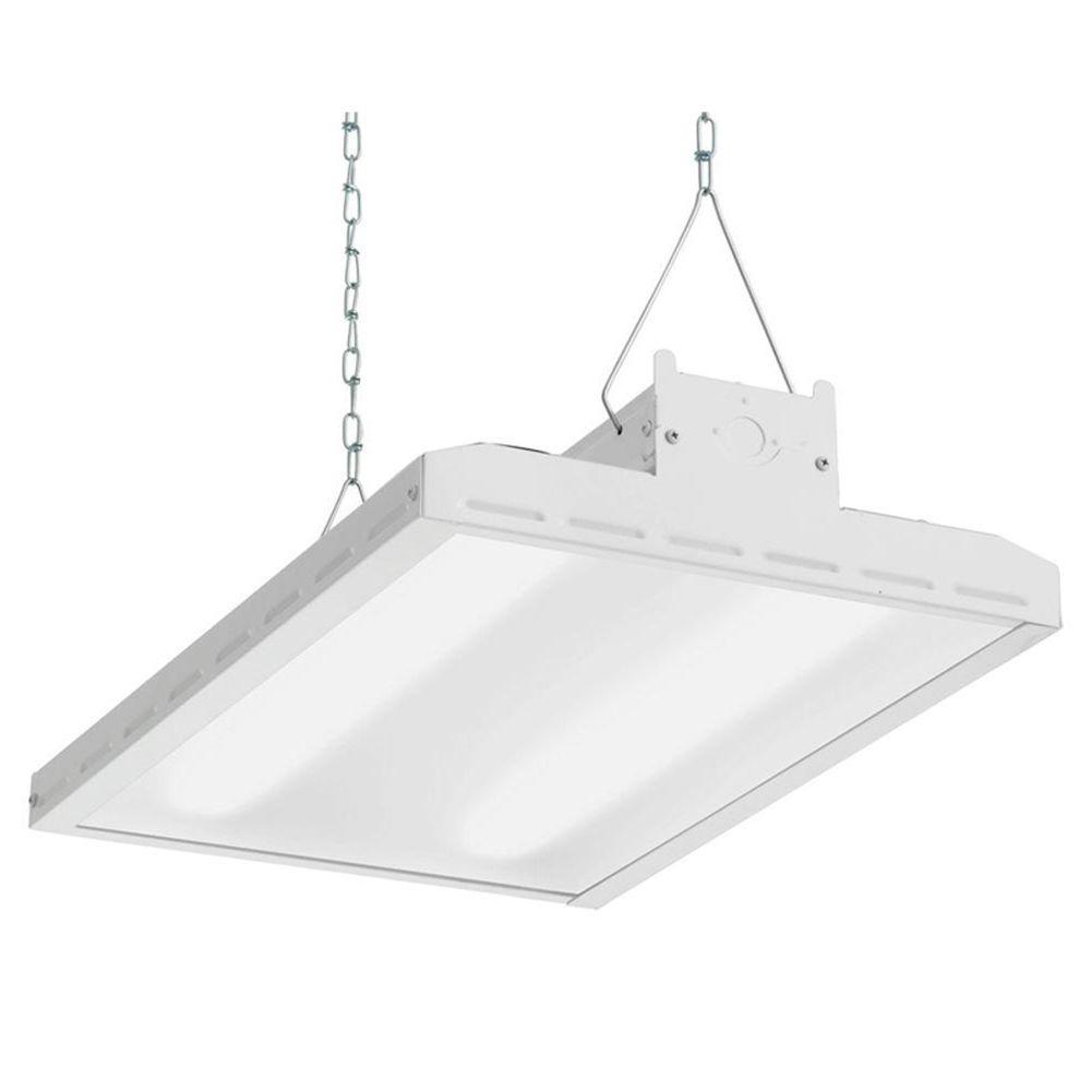 hight resolution of lithonia lighting ibh 11l mv 2 ft white led high bay light ibh 11l rh homedepot com led high bay lights lithonia high bay lights wiring