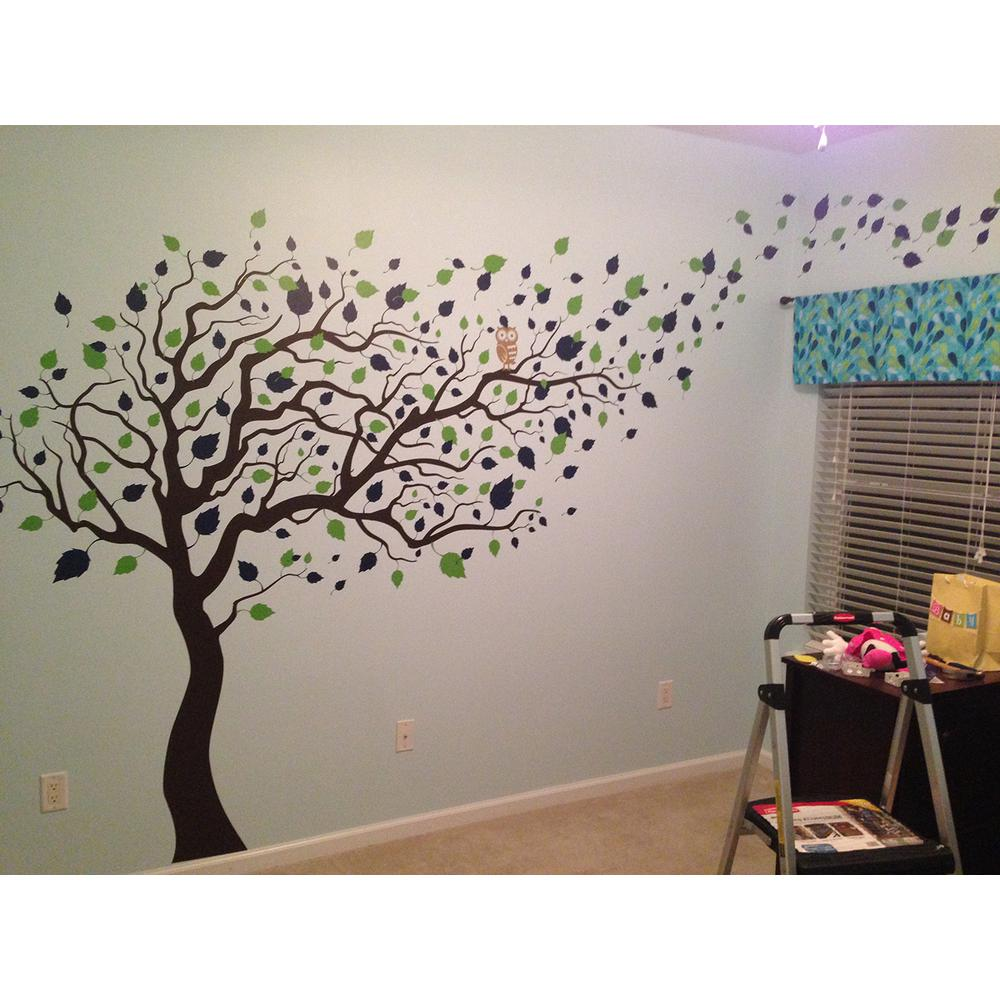 Pop Decors 123 In X 83 In Blowing In The Wind Tree