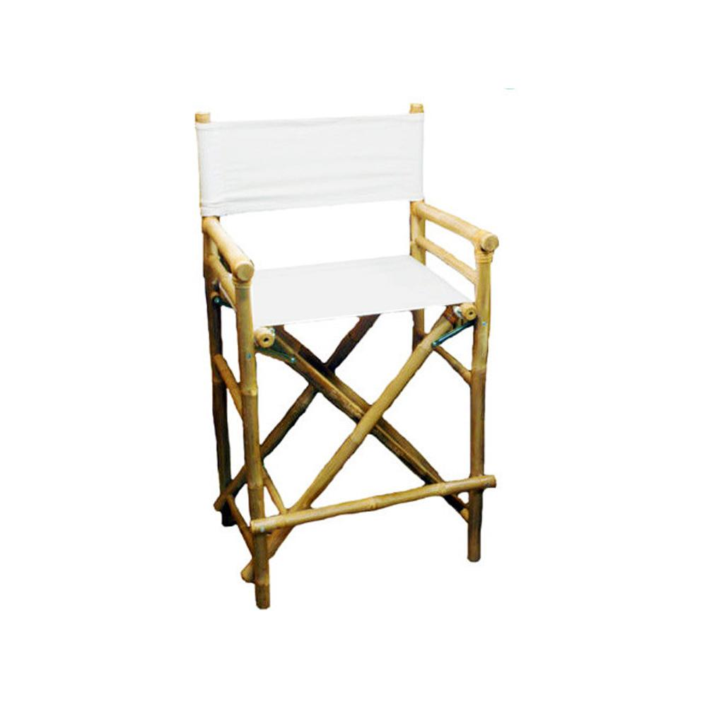 directors chair white stool in spanish mgp 19 l x 23 w 43 h tall bamboo director chairs canvas set of 2