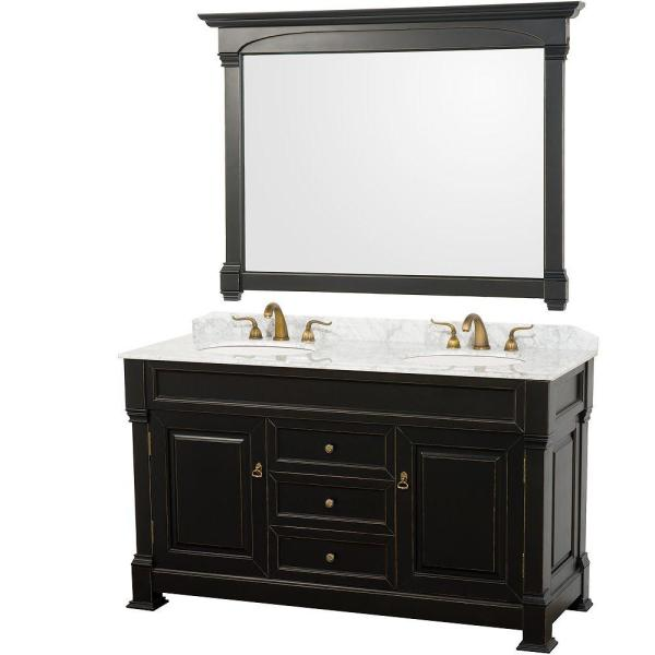 Wyndham Collection Andover 60 In. Vanity In Antique Black