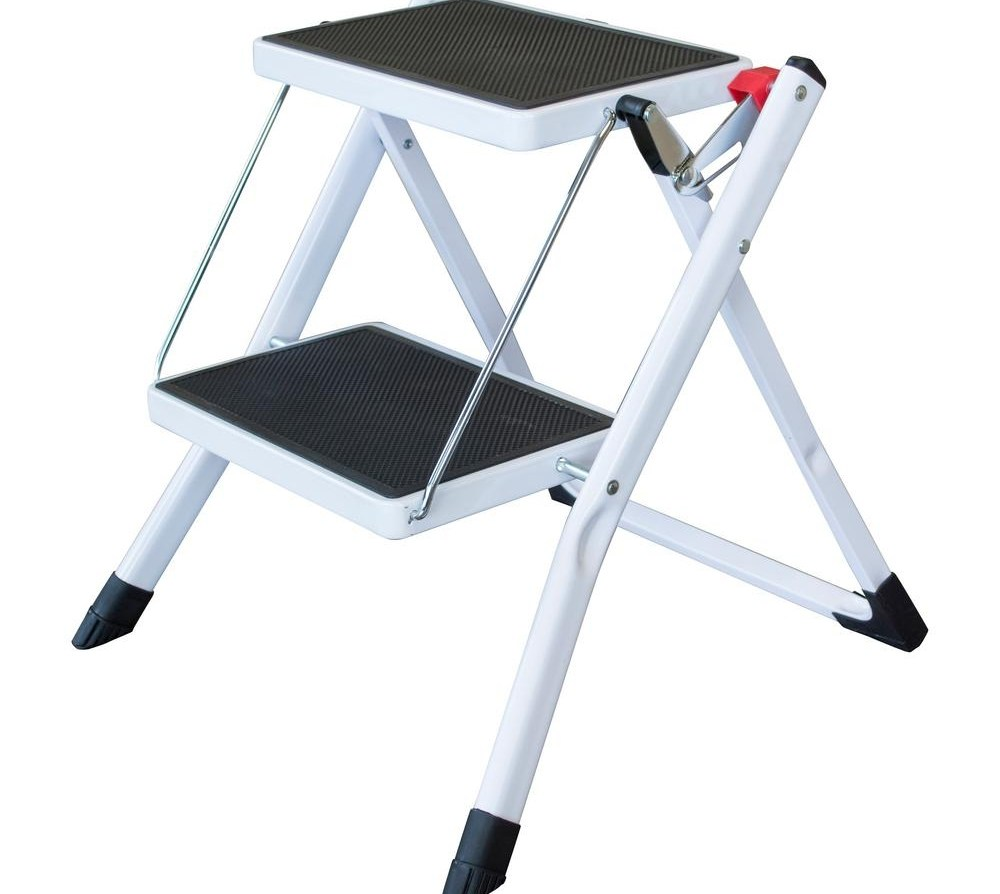Amerihome 2 Step Steel Folding Mini Step Ladder With 225 Lbs Load   Metal Steps Home Depot   Wrought Iron Railings   Flashing   Step Stool   Deck Railing   Stair Treads