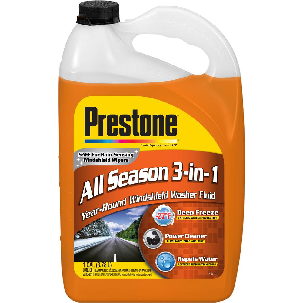 Prestone 128 Fl Oz 3 And 1 Washer Fluid Low Voc AS658P The Home Depot
