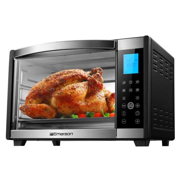 6-slice Black And Stainless Convection Rotisserie