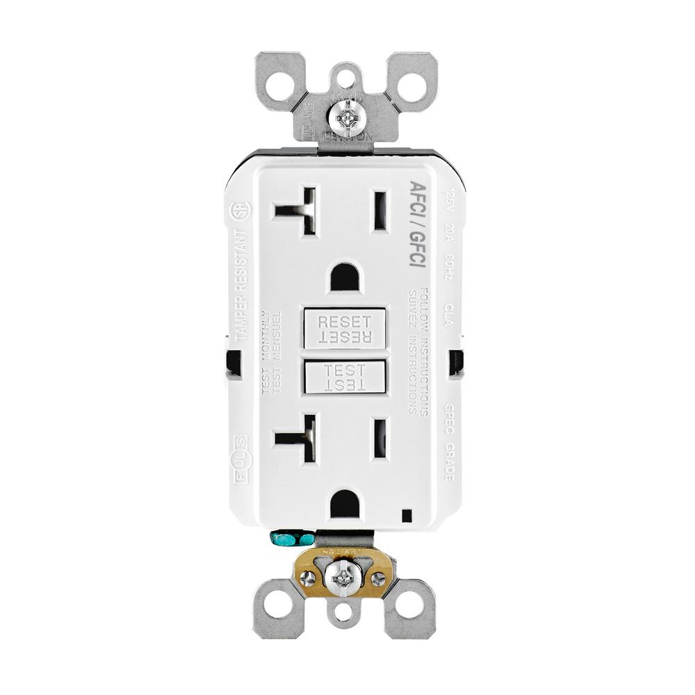 medium resolution of 20 amp 125 volt afci gfci dual function outlet white
