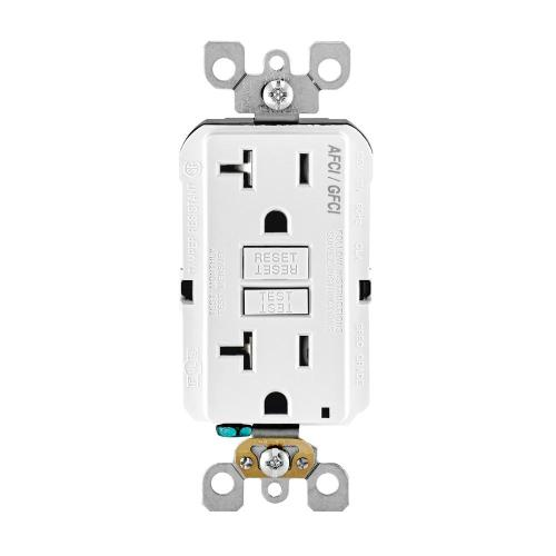 small resolution of 20 amp 125 volt afci gfci dual function outlet white