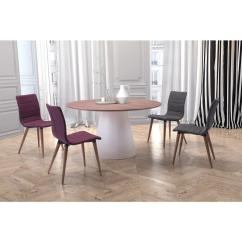 Purple Upholstered Dining Chairs Swivel Lounge Chair Australia Zuo Jericho Polyblend Set Of 2 100275 The