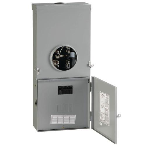 small resolution of ge 200 amp 4 space 8 circuit outdoor combination main breaker ringless meter socket load center