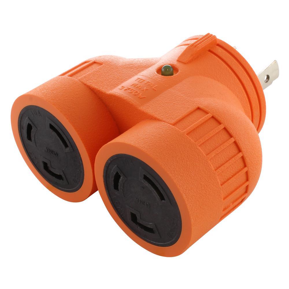 medium resolution of  wiring diagram mix l14 plug ac works generator v duo outlet splitter l5 30p 30 amp 3 prongac works generator v