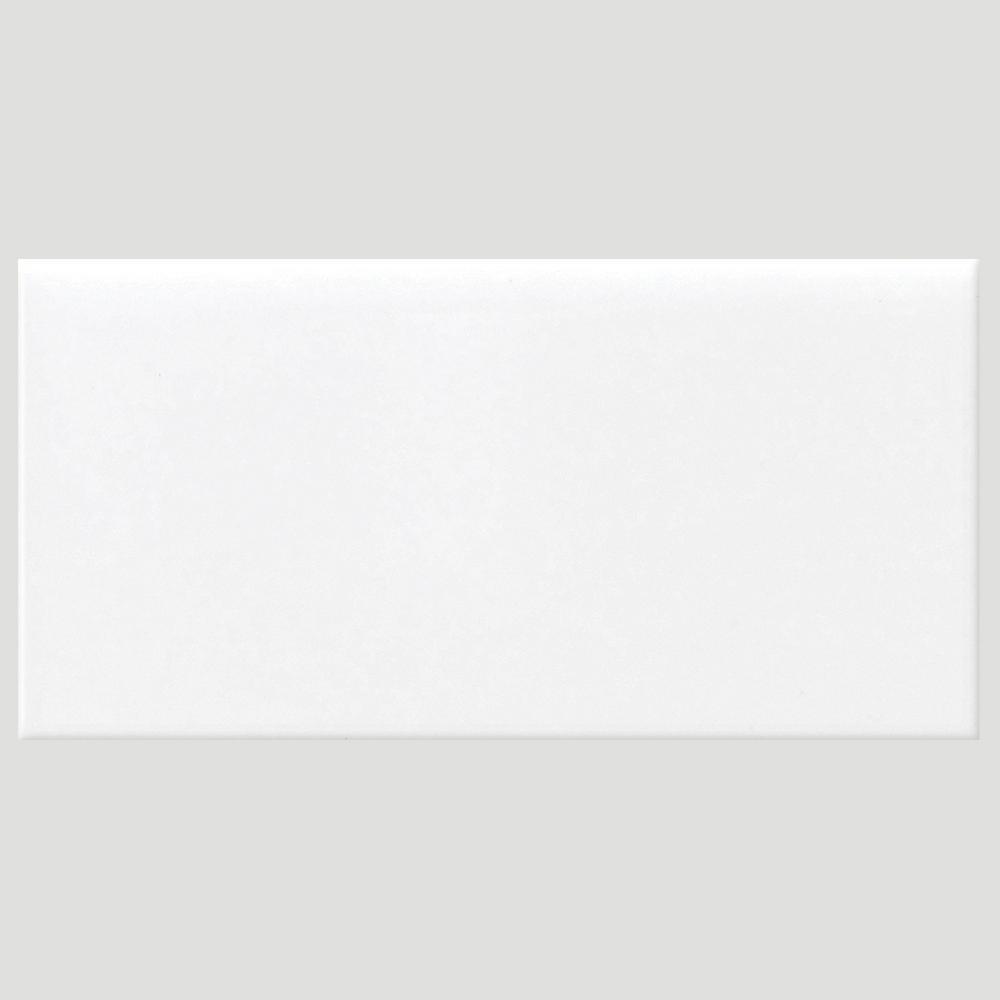 Daltile Finesse Bright White 3 in. x 6 in. Ceramic Wall