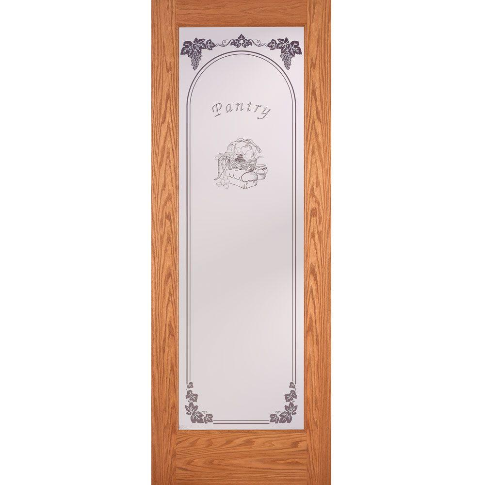 Feather River Doors 24 in. x 80 in. Pantry Woodgrain 1
