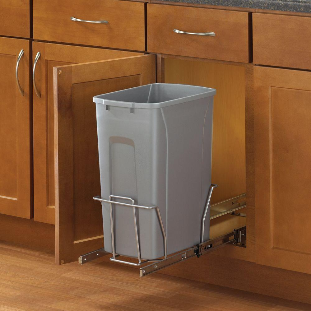 home depot kitchen trash cans high top tables real solutions for life 19 in. h x 9 w 20 d ...