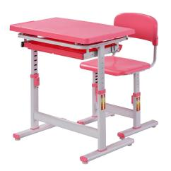 Chairs For Standing Desks Blooma Garden Chair Covers Muscle Rack 2 Piece Pink Ergonomic Adjustable Kids Desk And