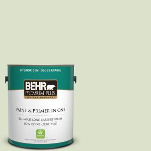 Behr Premium Plus 1 Gal 13 Cottage White Flat Interior Paint