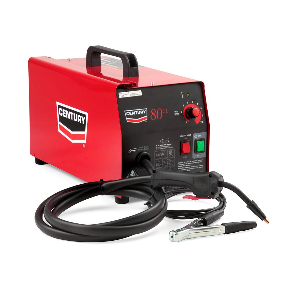 hight resolution of lincoln electric 70 amp 80gl wire feed flux core welder and gun with flux cored